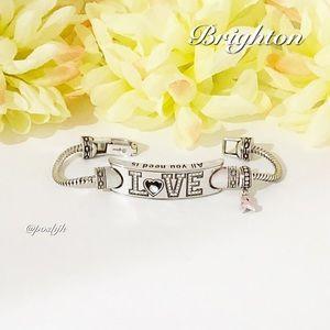 Brighton Bracelet Power of Pink 2010 Swarovski Crystals Add Charms Silver